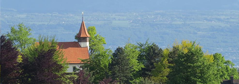 Vue d'Epalinges Avec l'Eglise des Croisettes