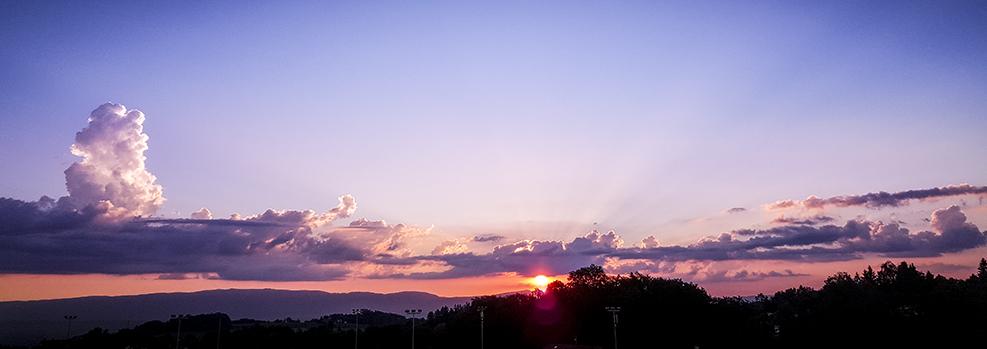 Coucher de soleil sur le Jura