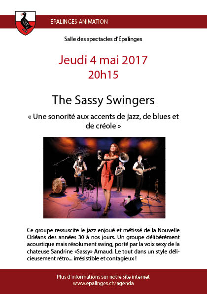 Flyer The Sassy Swingers